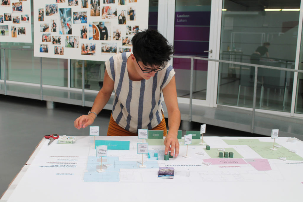 alice de Luc lab prépare l'atelier de design thinking