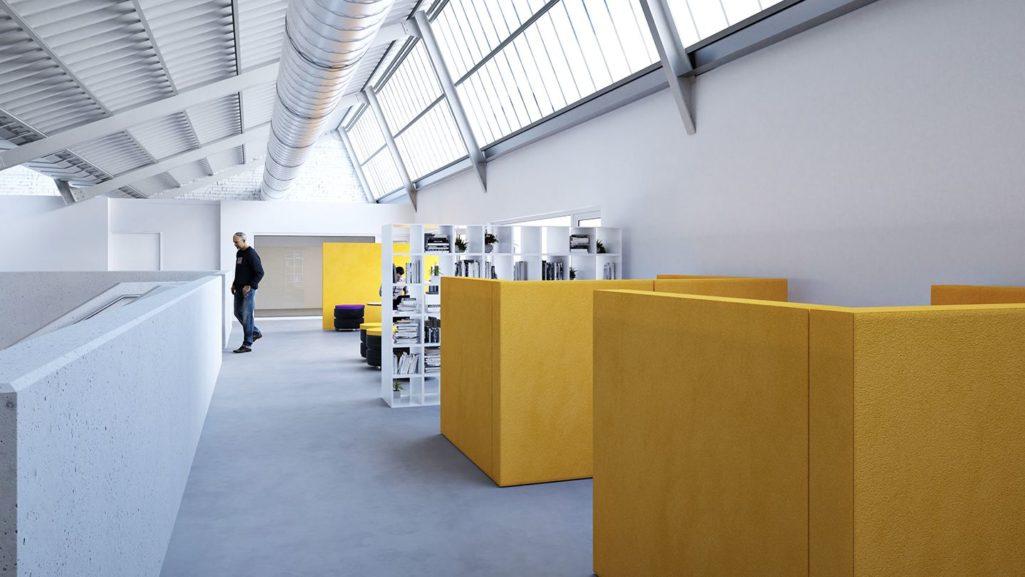 mobilier de bureau cloison phonique ABV Belgique