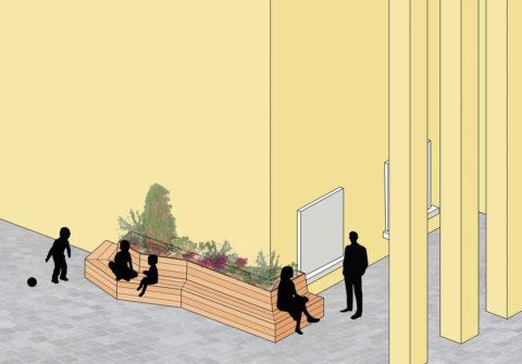 projet de banc végétalisé mobilier urbain