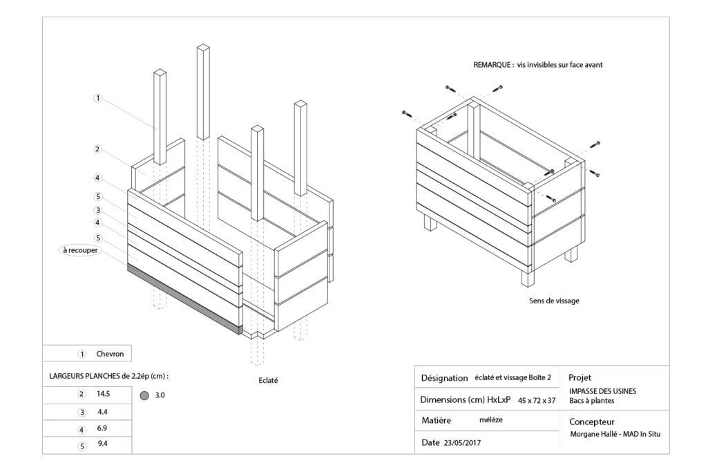 plan de construction du bac à végétaux