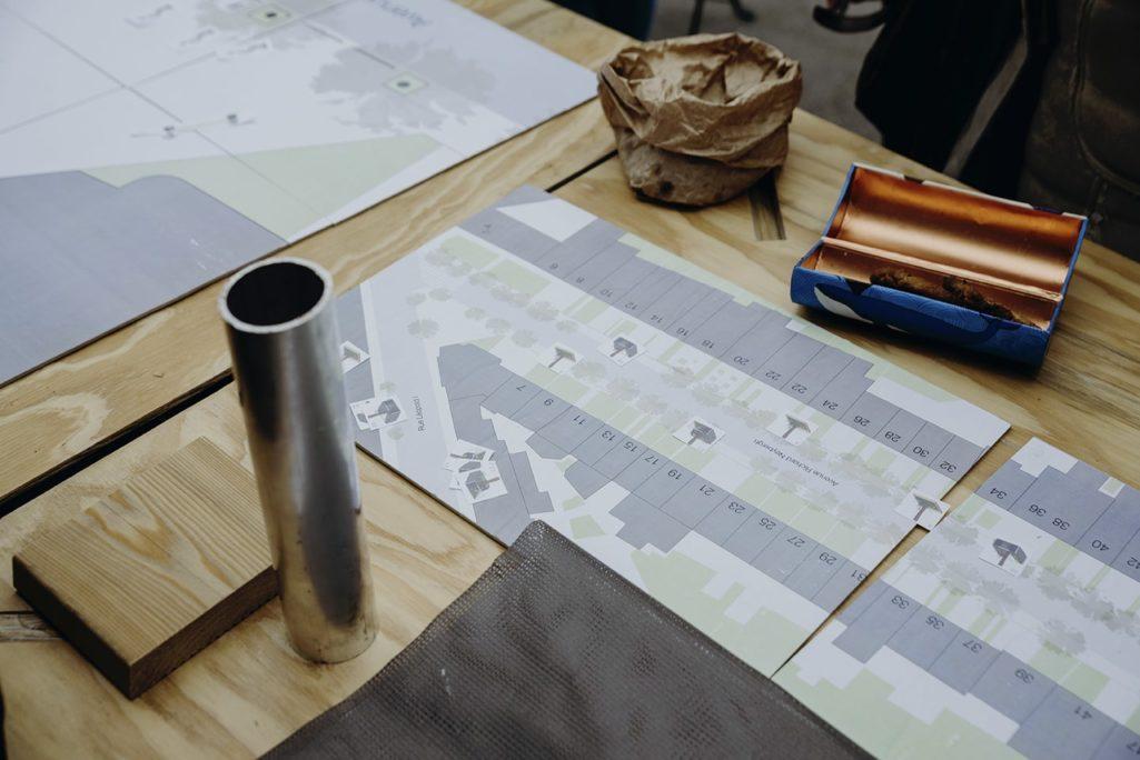 les matériaux du mobilier urbain prototype