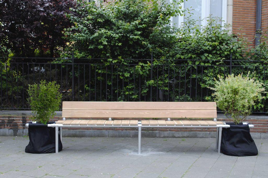 banc de mobilier urbain pour arbuste fruitier